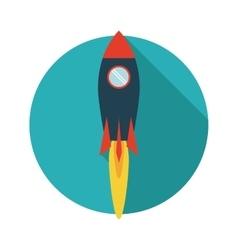 Rocket desing Spaceship icon Flat vector image