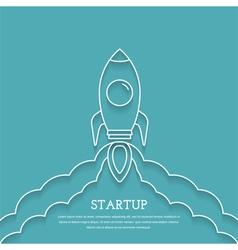 Rocket Launch - Startup Concept vector