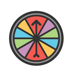Roulette with arrow vector