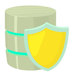 Safe database icon cartoon style vector