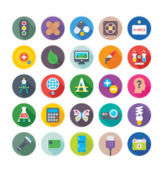 Science and technology colored icons 7 vector