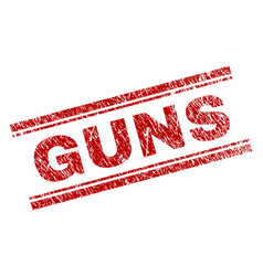 Scratched textured guns stamp seal vector