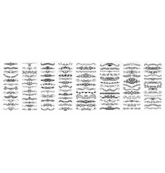 Set 100 doodle sketch drawing divider wedding vector