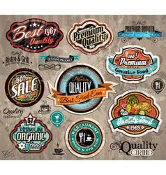 Set premium quality vintage labels vector