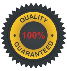 sticker - quality 100 guaranteed vector image