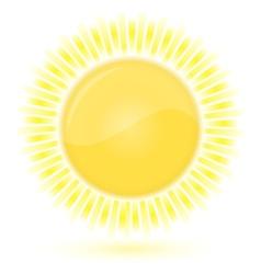 sun weather forecast vector image
