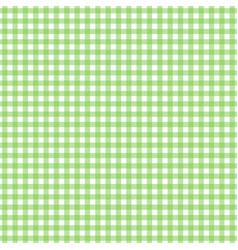 Tablecloth cloth fiber gingham pattern green vector
