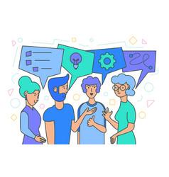 Team brainstorm idea generation vector