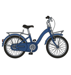 The retro blue bicycle vector