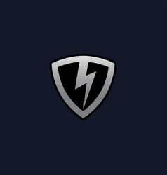 thunderbolt shield logo concept design templates vector image