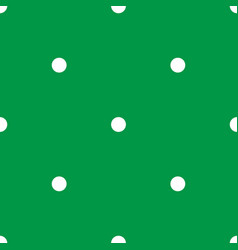 tile pattern with white polka dots on green vector image