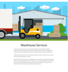 transportation and cargo services and storage vector image
