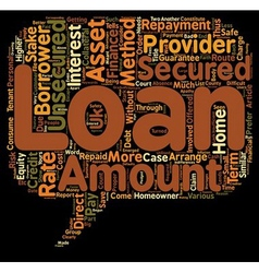 Unsecured Loans Route to Finance in the Absence of vector image vector image