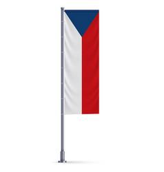 vertical hanging flag vector image