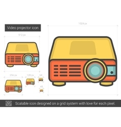 Video projector line icon vector