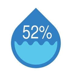 Water infographics Information Graphics vector image
