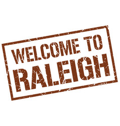 Welcome to raleigh stamp vector