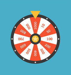 Wheel fortune lottery luck vector