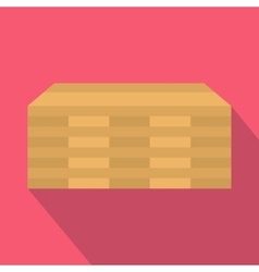 Wooden pallets icon flat style vector