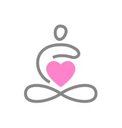 yoga love template vector image