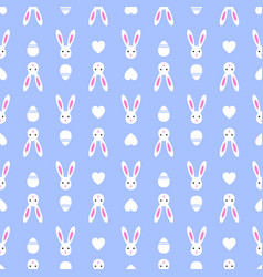 easter blue seamless pattern retro bunny vintage vector image