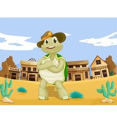Turtle sherrif vector image