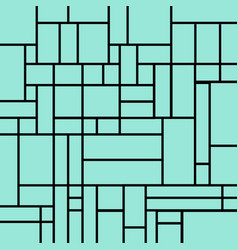 abstract squares pattern on a light blue vector image vector image