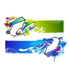 Graffiti Bright Banners vector image vector image
