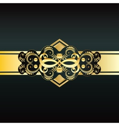 Invitation with Gold Ribbon vector image vector image