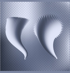 isolated abstract tornado hurricane on checkered vector image