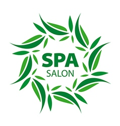 logo with floral ornaments for the spa vector image vector image