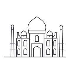 mosque islam line icon sign vector image