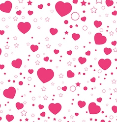 Valentine day and pink heart isolated on white vector