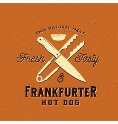 Frankfurter Hot Dog Vintage Card Poster or vector image vector image