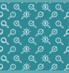search signs pattern background on a blue vector image vector image