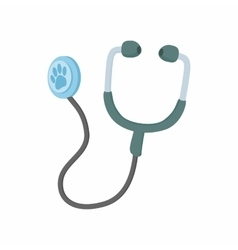 Stethoscope for animals icon cartoon style vector image