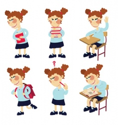 student girl vector image vector image