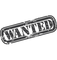 Wanted Stamp vector image