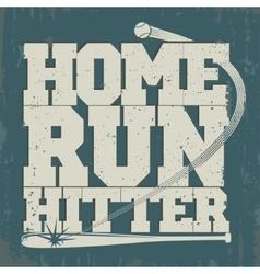 Baseball emblem - graphics for t-shirt vector image vector image