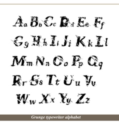 English alphabet - grunge typewritter letters vector image vector image