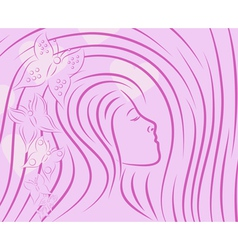 pretty girls sketch vector image vector image
