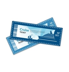 Ship cruise tickets vector image vector image