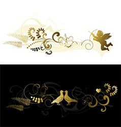 Valentine banner vector image vector image