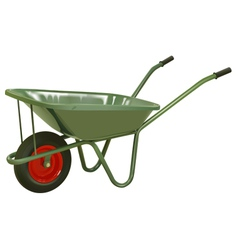 wheelbarrow vector image