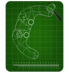 3d model of joystick on a green vector