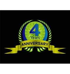4 year birthday celebration 4th anniversaryset vector image