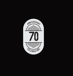 70 years anniversary celebrations retro style vector