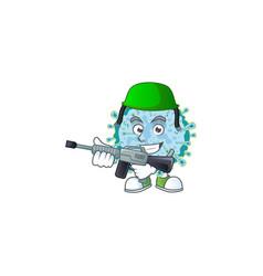 An elegant picture coronavirus illness as an army vector