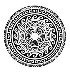 Ancient greek round key pattern - meander art vector
