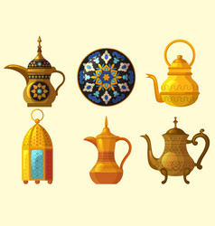 Arabic heritage east cultural native traditional vector